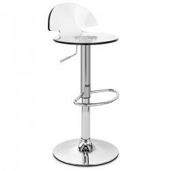 Chaise de Bar Plastique Chrome - Comet
