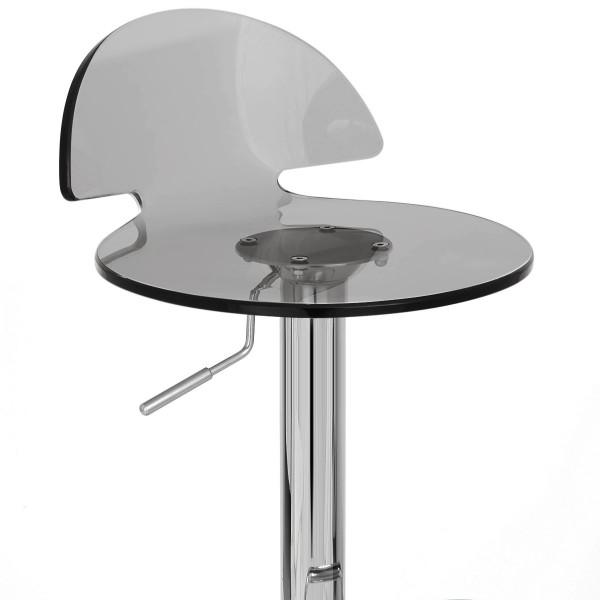 Chaise de Bar Plastique Chrome - Comet Gris