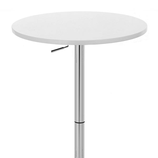 Table de Bar Chrome - Ambassador Noir