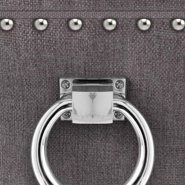 Chaise de Bar Bois Tissu - Ascot Gris Foncé