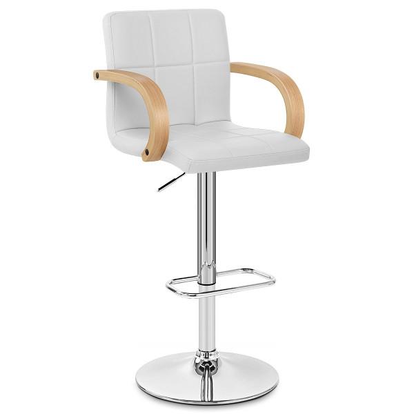 Chaise de Bar Faux Cuir Chrome - Burton