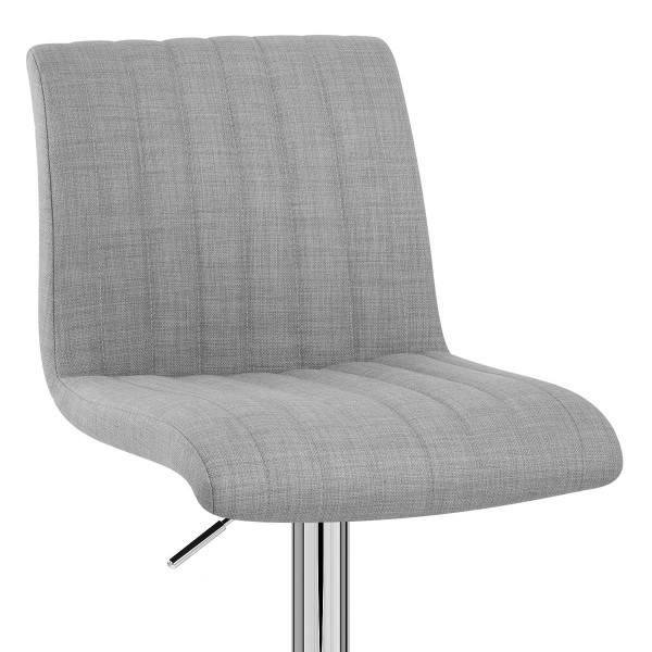 Chaise de bar en tissu - Debut Gris