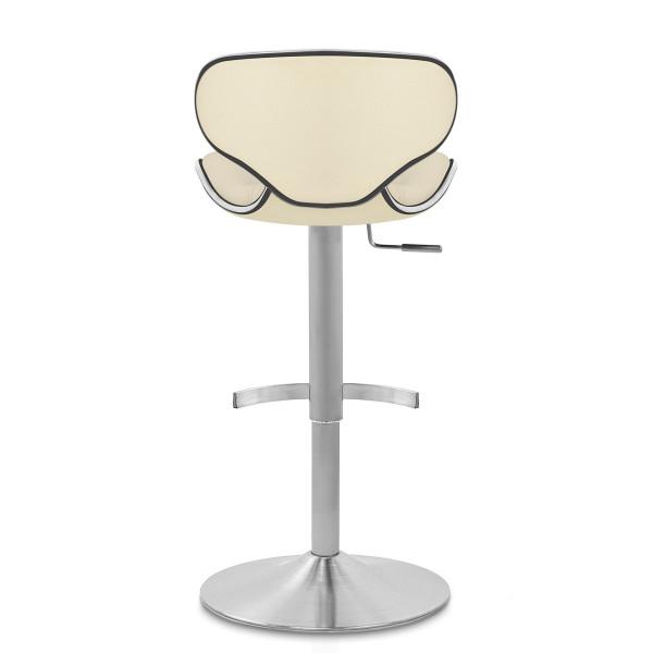 Chaise de Bar Cuir Chrome Brossé - Félix Deluxe