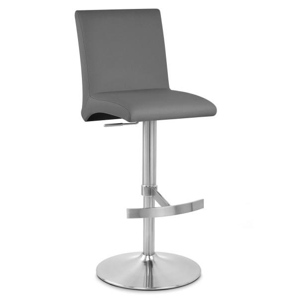 Chaise de Bar Faux Cuir Chrome Brossé - Deluxe High Back