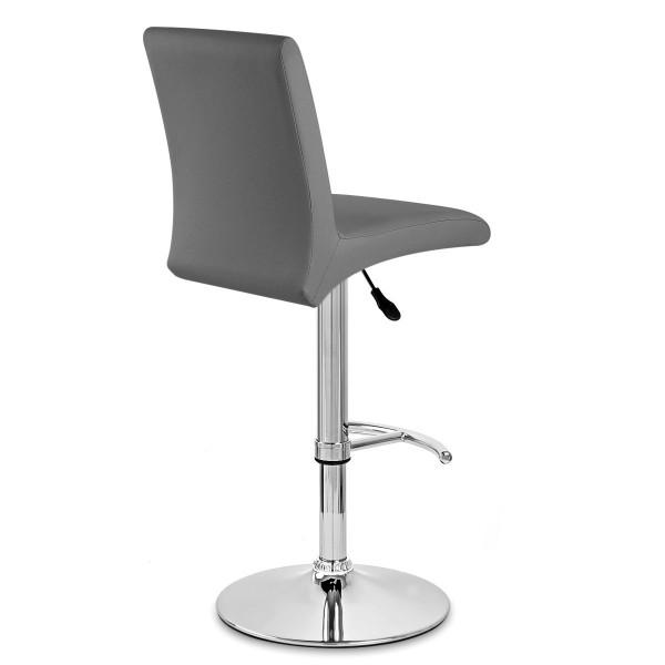 Chaise de Bar Faux Cuir Chrome - Deluxe High Back