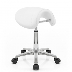 Tabouret Faux Cuir Chrome - Deluxe Saddle