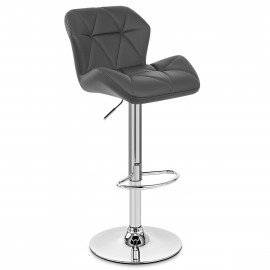 Chaise de Bar Faux Cuir Chrome - Diamond
