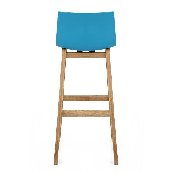 Tabouret de Bar Résine Bois - Drift Bleu