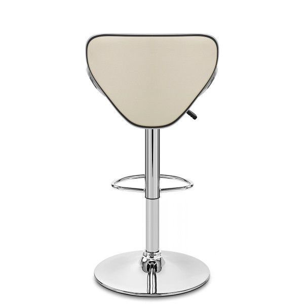 Chaise de Bar Faux Cuir Chrome - Félix Crème