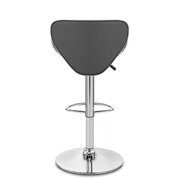 Chaise de Bar Faux Cuir Chrome - Félix Gris