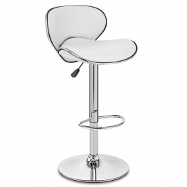 Chaise de Bar Faux Cuir Chrome - Félix