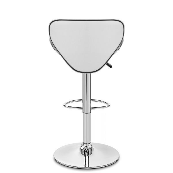 Chaise de Bar Faux Cuir Chrome - Félix Blanc