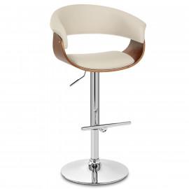 Chaise de Bar Bois Faux Cuir - Grafton