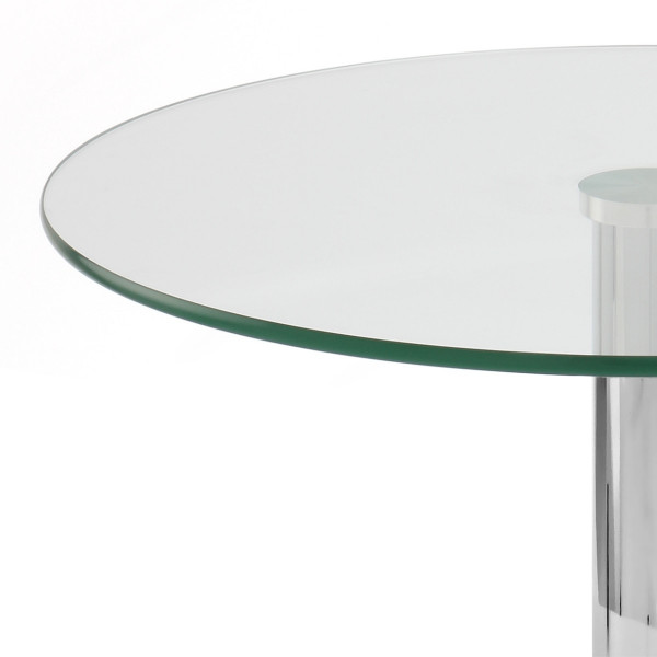 Table Basse Chrome Verre - Glacier Verre Transparent