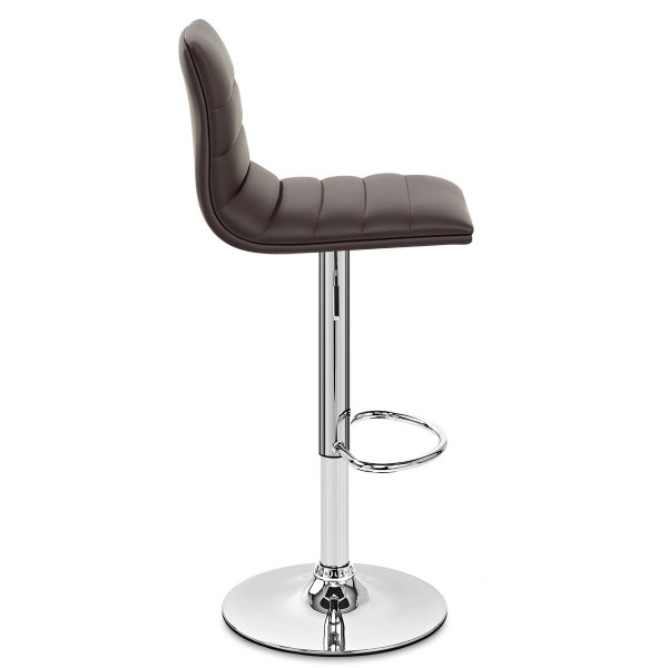 Chaise de Bar Faux Cuir Chrome - Linear