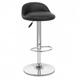 Chaise de Bar Cuir Chrome - Lulu
