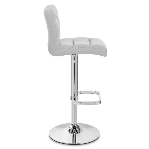 Chaise de Bar Faux Cuir Chrome - Lush