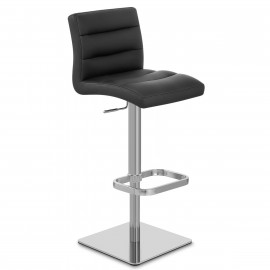 Chaise de Bar Cuir Chrome Brossé - Lush