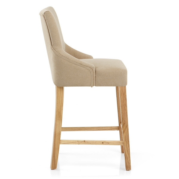 Chaise de Bar Tissu Bois - Magna Marron