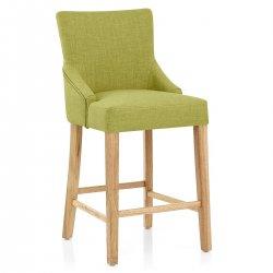 Chaise de Bar Tissu Bois - Magna