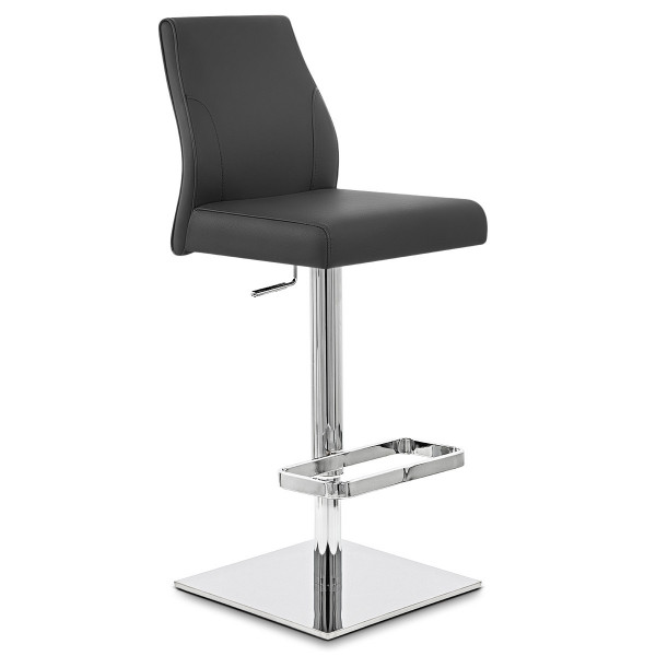 Chaise de Bar Cuir Chrome - Martello