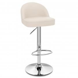 Chaise de Bar Faux Cuir Chrome - Mimi