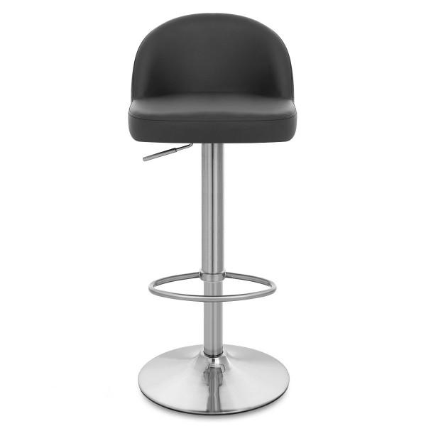 Chaise de Bar Faux Cuir Chrome Brossé - Mimi