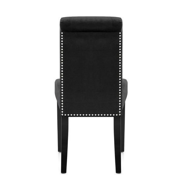 Chaise velours bois - Moreton Noir