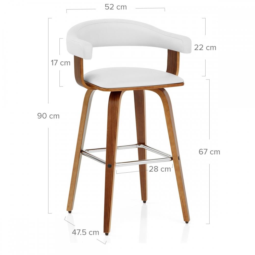 Chaise De Bar 67 Cm Bois Et Blanc