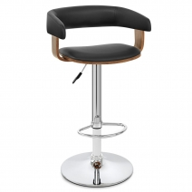 Chaise de Bar Bois Chrome - Orlando