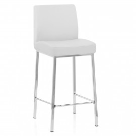 Tabouret Faux Cuir Chrome - Pacino