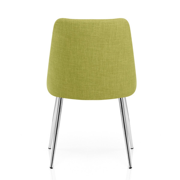 Chaise Tissu Chrome - Shanghai Vert