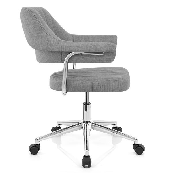 Chaise de Bureau Tissu - Skyline Gris