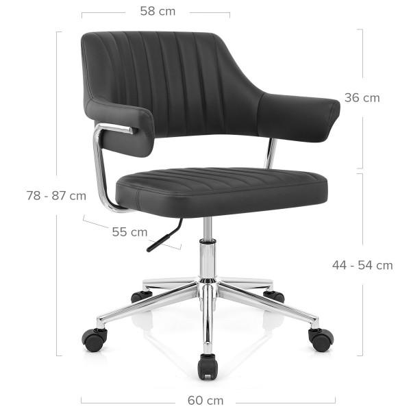 Chaise De Bureau Faux Cuir - Skyline Noir