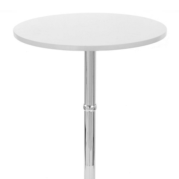 Table de Bar Chrome - Sovereign Ronde Noir
