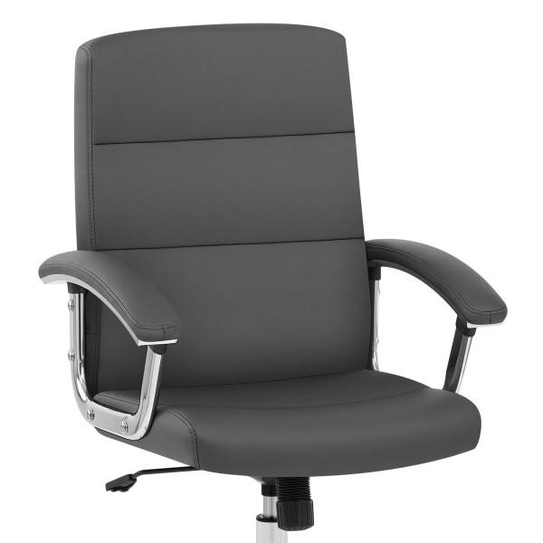 Chaise de Bureau Faux Cuir - Stanford Gris