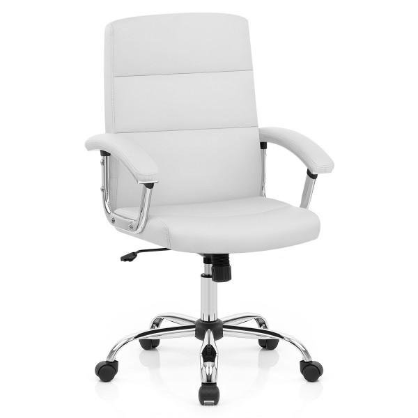 Chaise de Bureau Faux Cuir - Stanford Blanc