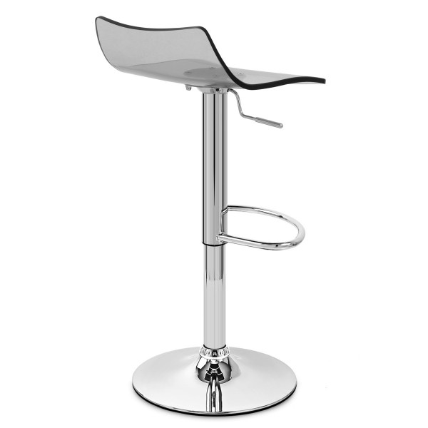 Chaise de Bar Acrylique Chrome - Crystal