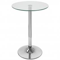 Table de Bar Chrome - Vetro Ronde
