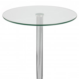 Table de Bar Chrome - Vetro Ronde