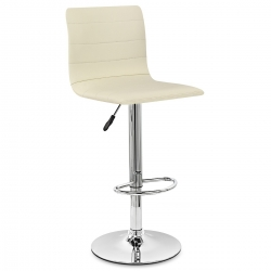 Chaise de Bar Cuir Chrome - Fabio