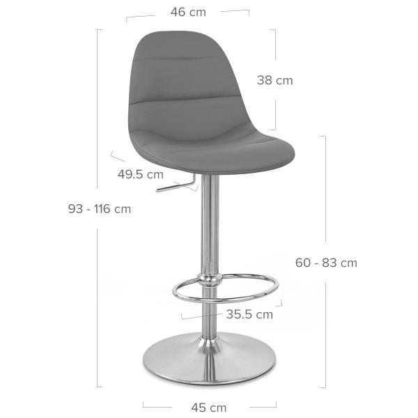 Chaise de Bar Faux Cuir Chrome Brossé - Ferrero