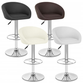 Chaise de Bar Cuir Chrome - Zenith