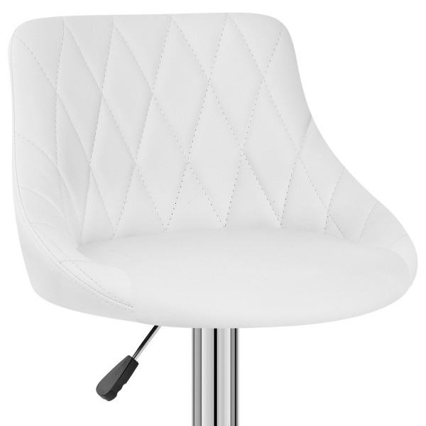 Chaise de Bar Faux Cuir - Stitch Blanc