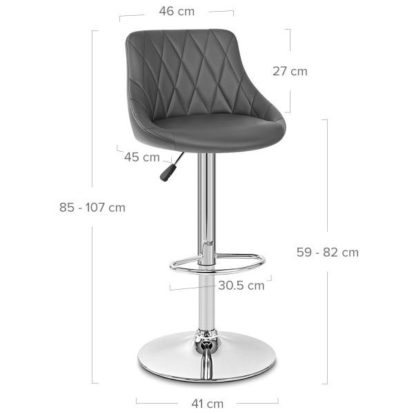 Chaise de Bar Faux Cuir - Stitch Gris