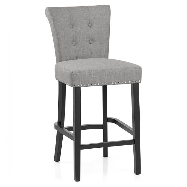 Chaise de Bar Tissu - Buckingham Gris