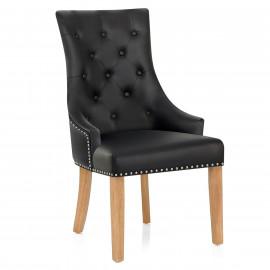 Chaise chêne cuir croûté - Ascot