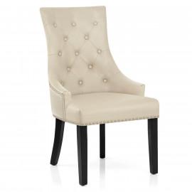 Chaise bois cuir crouté - Ascot