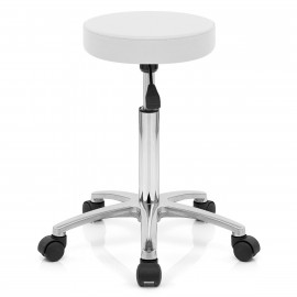 Tabouret Faux Cuir Chrome - Swivel
