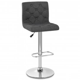 Chaise de Bar Chrome Tissu - Seattle